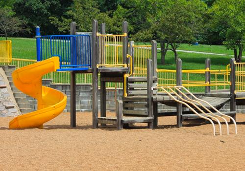 pea gravel playground surface
