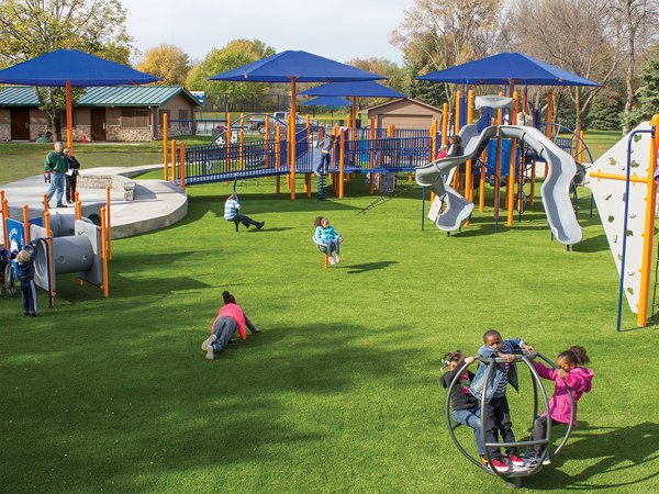 XGrass Synthetic Grass Playground Surface