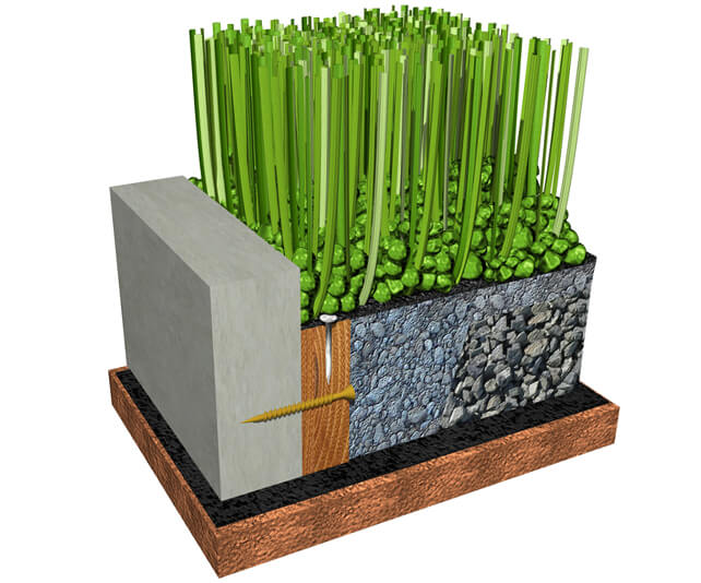 Lawn with Concrete