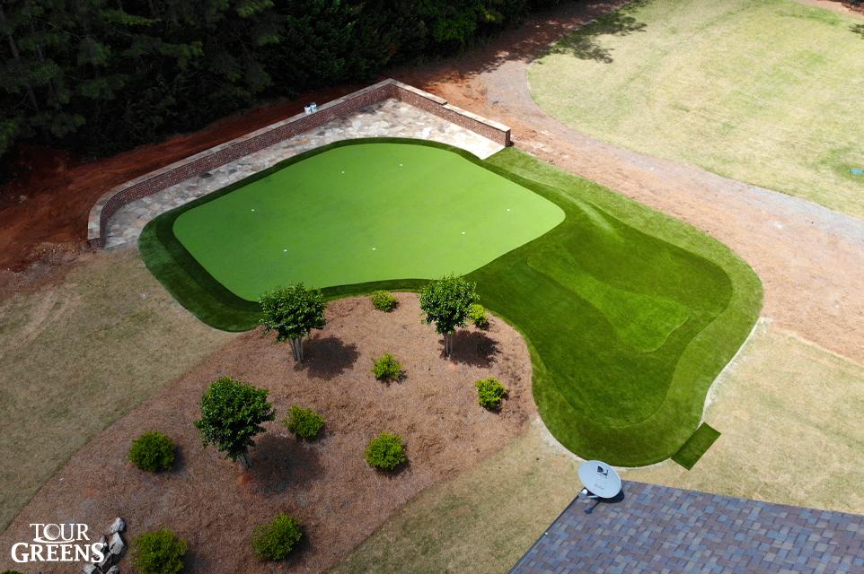 PGA pro backyard putting green custom designed by Tour Greens