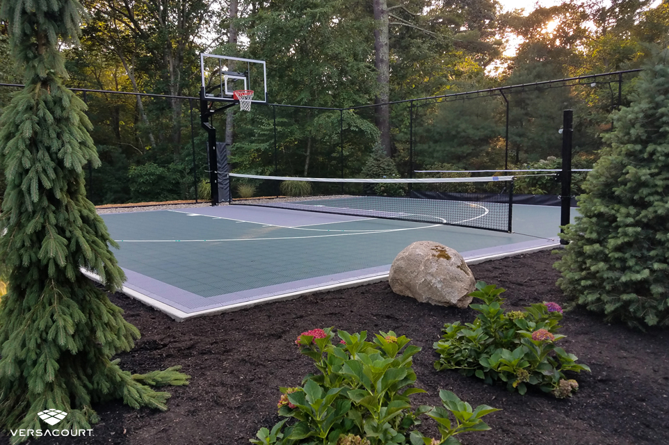 VersaCourt multi-sport game court with adjustable net