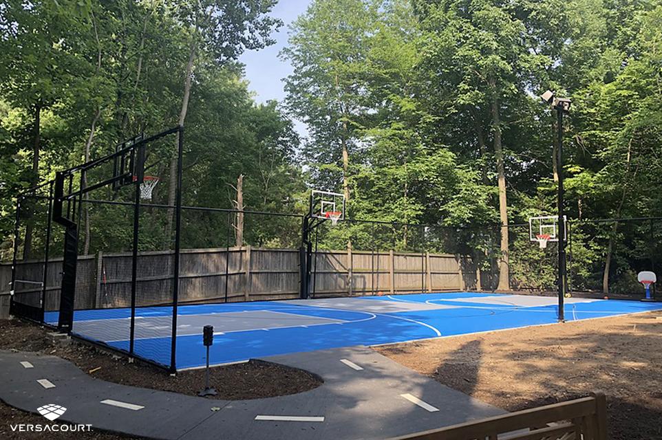 2-in-1 backyard basketball court from VersaCourt