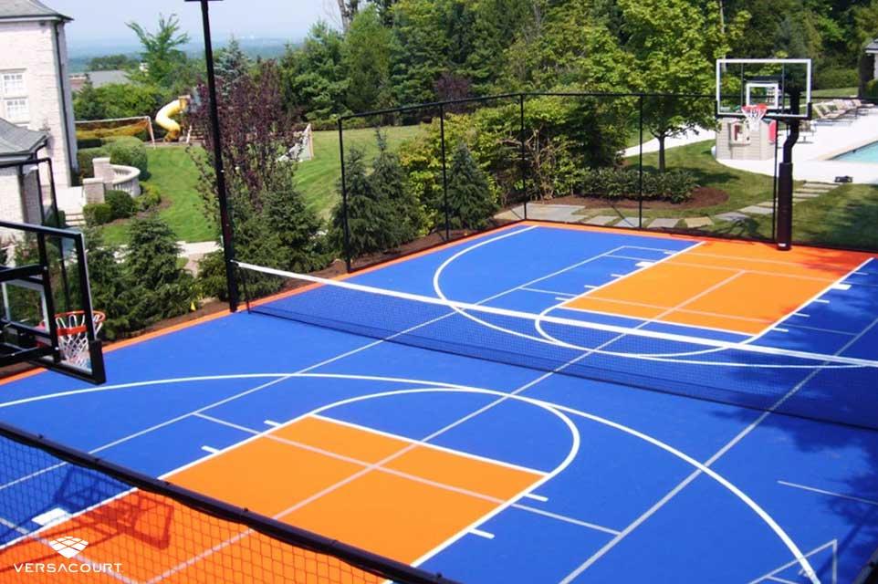 VersaCourt custom designed backyard multi-sport game court