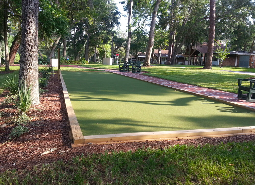XGrass Synthetic Turf Bocce Ball Court