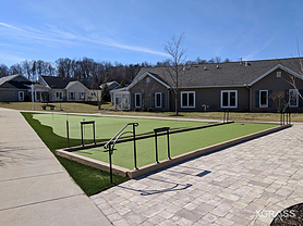 Synthetic Turf Bocce Court & Putting Green